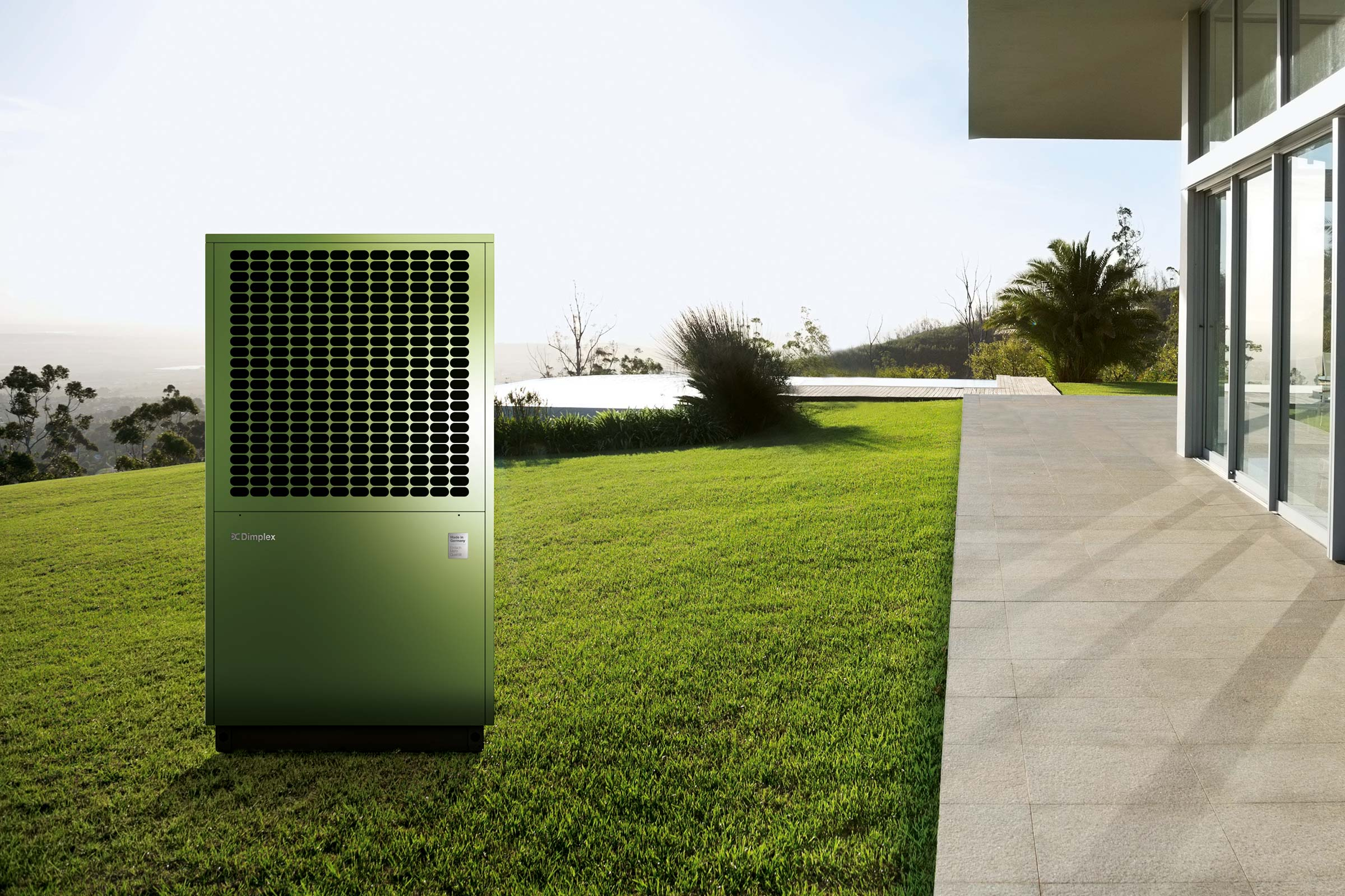 Wärmepumpe von Dimplex im Außenbereich